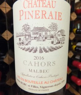Chateau Pineraie Tradition Cahors 2016